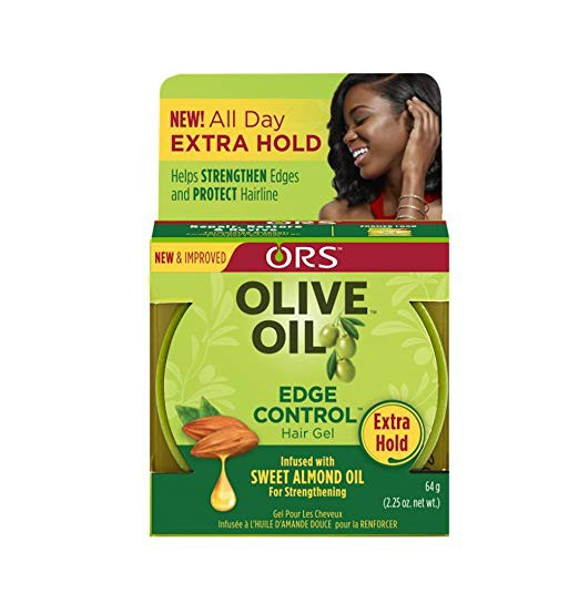 ORS Olive Oil Edge Control Hair Gel Infused with Sweet Almond Oil 64g